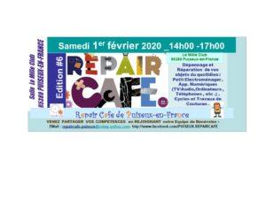 6ème édition du Repair Café le samedi 1er février 2020 de 14h00 à 17h00