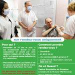 Lancement de la campagne de vaccination contre le COVID 19 pour les plus de 75 ans à partir du 18 janvier 2021