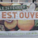 Ouverture du supermarché ALDI à Puiseux en France